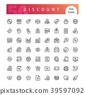 Discount Line Icons Set 39597092