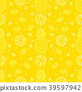 Pineapple fruits seamless pattern background 39597942