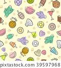 summer seamless pattern 39597968