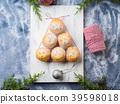 Christmas muffin tree, icing sugar. Holiday baking 39598018