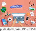 Top view vector set of office workplace  39598958