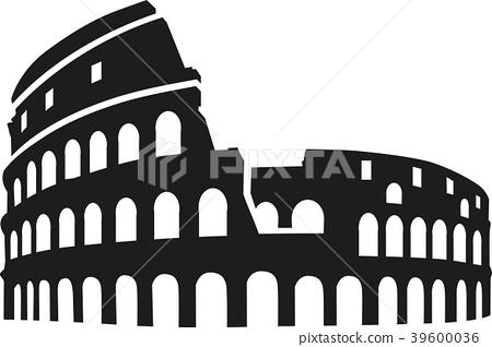Colosseum rome silhouette 39600036