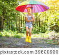 umbrella, child, happy 39600900