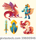 Vector set of fantasy game design objects 39600946