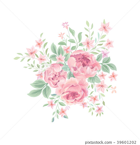 Floral Background Flower Bouquet Greeting Card 插圖素材