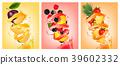 vector, fruit, splash 39602332