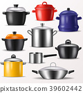 Pan vector kitchenware or cookware for cooking 39602442