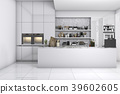 scandinavian kitchen with white and black design 39602605