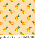 Seamless background watercolor tropical fruit 39604006