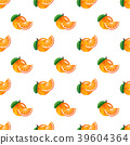 Seamless background watercolor tropical fruit 39604364