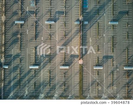 Empty Carpark Aerial 39604878