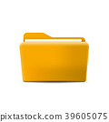 Folder icon. Flat design graphic illustration. 39605075