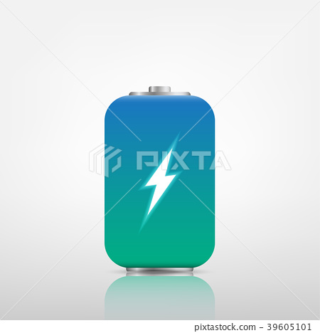Illustration transparent charged batteries. 39605101