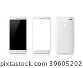 Modern white touchscreen smartphone. 39605202