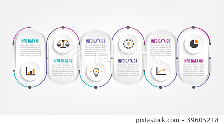 Six steps infographics. Template for brochure. 39605218
