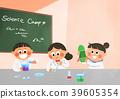 Vector illustration - children who enjoying winter activities during the winter season. 011 39605354