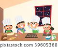 Vector illustration - children who enjoying winter activities during the winter season. 004 39605368