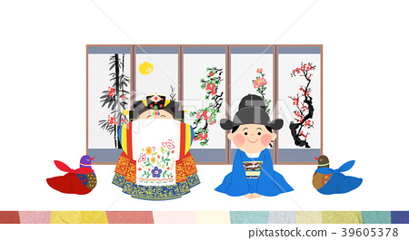 Vector illustration - The traditional Korean wedding 005 39605378