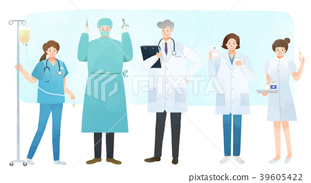 Vector illustration - People who have jobs as same trail. People working at various jobs  without distinction of sex, men or women recently. 005 39605422