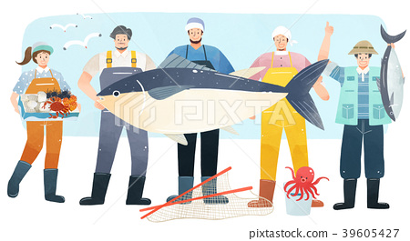 Vector illustration - People who have jobs as same trail. People working at various jobs  without distinction of sex, men or women recently. 003 39605427