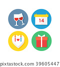 Set of Icon for Event or special days vector illustration. 009 39605447