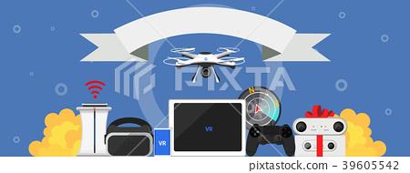 Vector - flat design style, anniversary or banner design illustration. 002 39605542