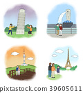 Vector - making a good memories for several landmarks around the world. 005 39605611