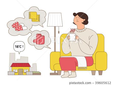 Disease prevention - Vector illustration about avoiding a disease 006 39605612