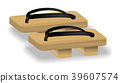 japan geta shoes footwaer on white background 39607574
