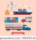 Set of Cargo Transportation 39609316