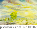 Original painting of rice field in mountain. 39610102