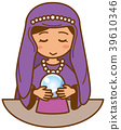Illustration of a fortune teller 39610346