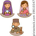Fortune teller image illustration set 39610347