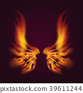 Bird fire wings vector fantasy feather burning fly 39611244