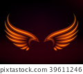 Bird fire wings vector fantasy feather burning fly 39611246
