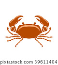 Boiled Sea Red Crab with Giant Claws 39611404
