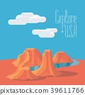 Visit USA with Grand Canyon vector illustration 39611766