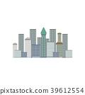 Skyscrapers, New York City, Manhattan downtown 39612554