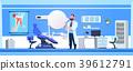 Man Doctor Over Dental Office Interior Dentist 39612791