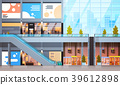 Modern Retail Store With Many Shops And 39612898