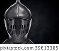 Illustration of Medieval Knight Armet Helmet 39613385