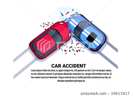 car accident top view vehicle collision icon over stock illustration 39613817 pixta pixta