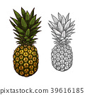 pineapple, fruit, food 39616185