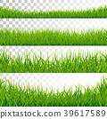 Green Grass Borders Set Vector Illustration on 39617589