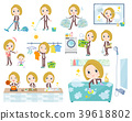 blond hair business women_Housekeeping 39618802
