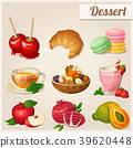 Set of different food icons. Dessert.   39620448