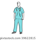 surgeon standing vector illustration sketch  39622815