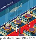 Cafe Aquarium Isometric Composition 39623271
