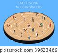 Professional Modern Dancers Isometric Flowchart 39623469