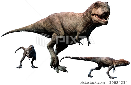 Tyrannosaurus rex female and young 39624254